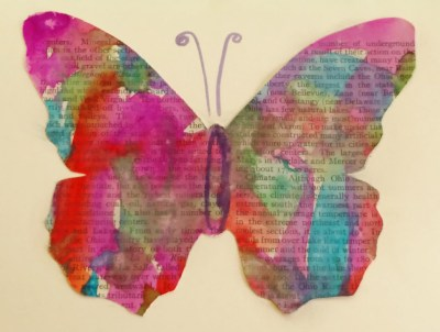 8  May Watercolor Butterfly on SHalavee.com