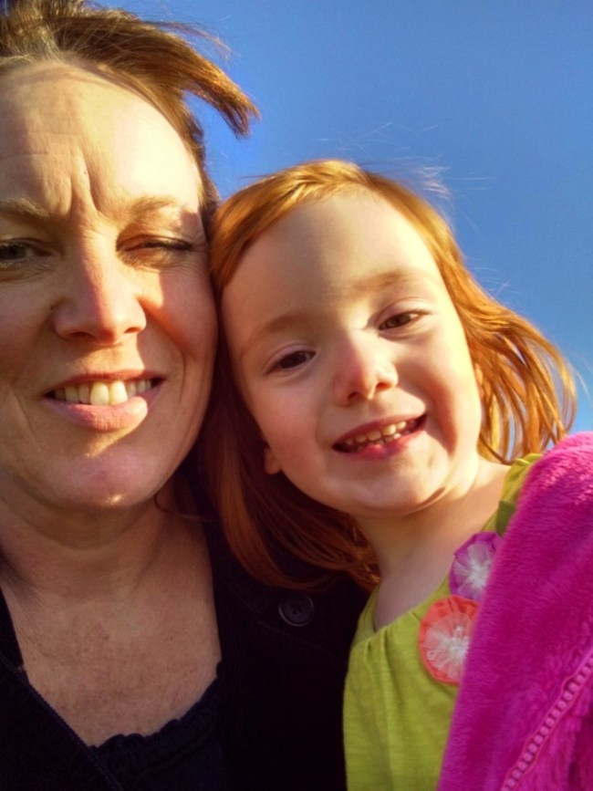 Child #2 and me on Shalavee.com