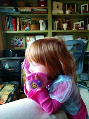 Fiona and her princess shoes on Shalavee.com