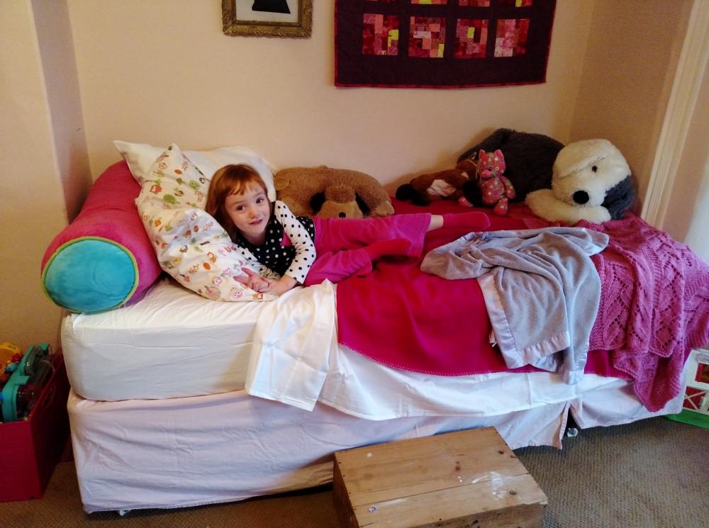 Fiona's big girl bed on Shalavee.com