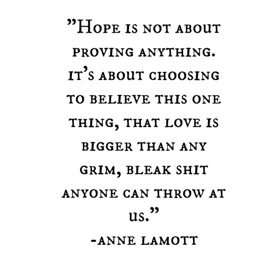 On Hope from Annie Lamott on Shalavee.com