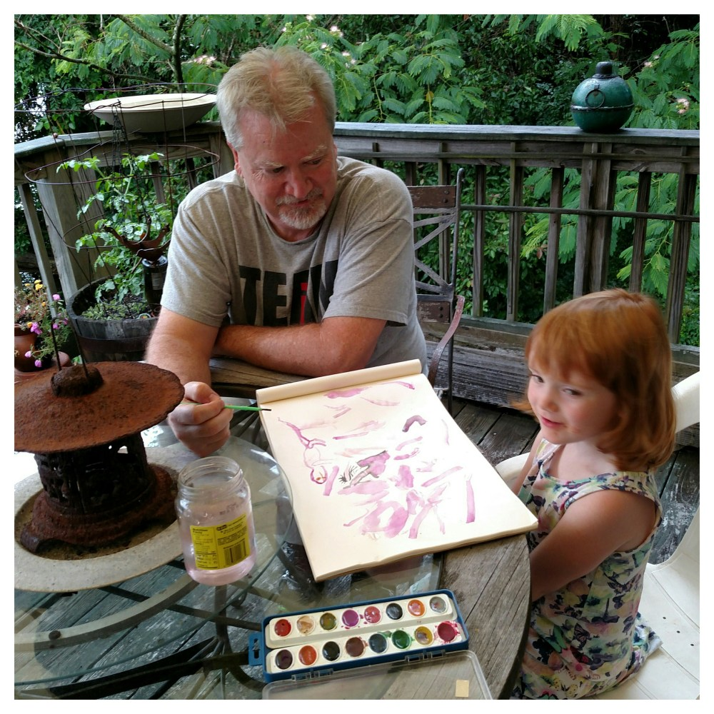 painting with Unky John on Shalavee.com
