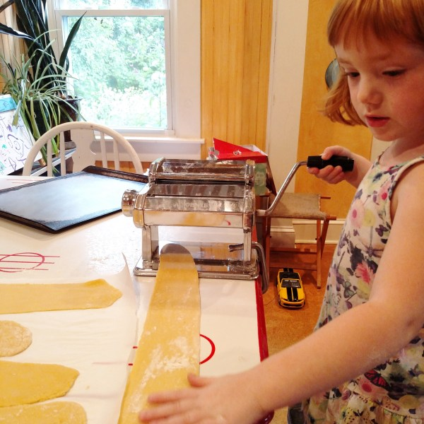 Making Fresh Pasta for the Fresh Tomato Sauce