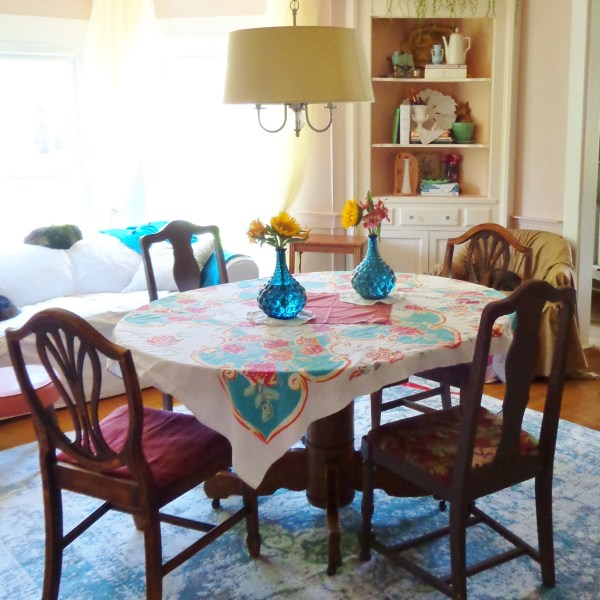 My Remodeled Pink Dining Room