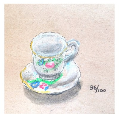 Little teacup for the 100 days challenge days 34 through 54 on Shalavee.com