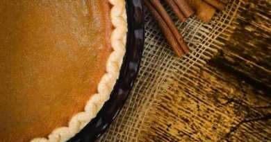 SHALE Mag - Pumpkin Pie With Cinnamon Sticks On Wooden Vintage Table - Picture Courtesy of Bigstock.com