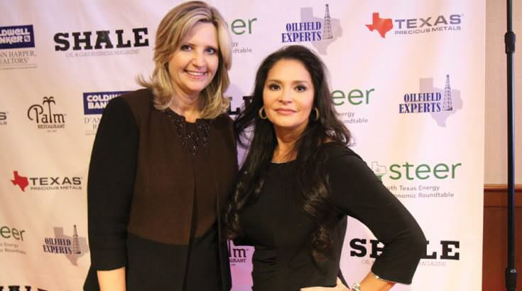 Sharon Spurlin and Kym Bolado Jan Feb 2016 SHALE Cover Party