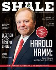 Harold Hamm Shale Magazine Cover September October 2016