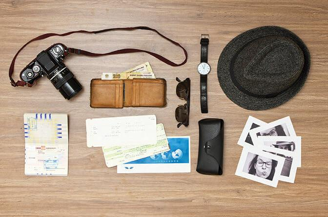 International travel background with a retro or vintage touch.