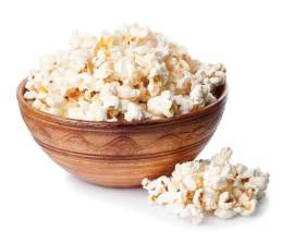 bigstock-133929395 - Popcorn in brown bowl on white background. Popcorn. Ceramic bowl full of popcorn studio isolated on white background - Mediterranean Lifestyle