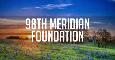 98th Meridian Foundation - Texas bluebonnet field at sunrise - Texas bluebonnet spring flower field at sunrise