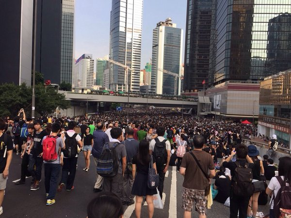 DEMONSTRATION: Protesters call for democracy in Hong Kong after China decides to name candidates in upcoming election.