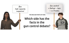 TWO BOILING POINTS OF VIEW: Which side has the facts in the gun control debate?