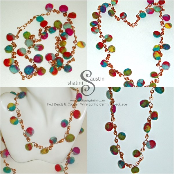 JS-Felt and Wire Carnival necklace
