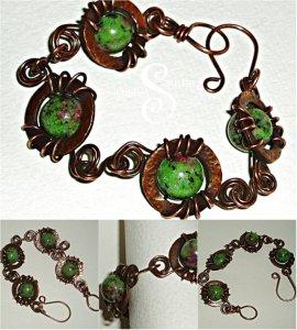 zoisite bead bracelet collage