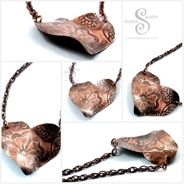 Copper Hearts Pendants in my online shop