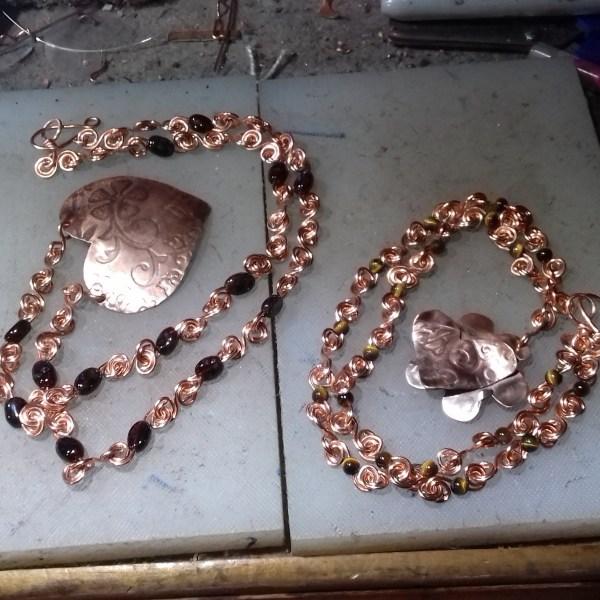 Copper Hearts - I do like these pendants