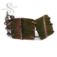 Copper Bracelet – Olive Green