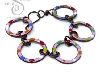 Enamelled Copper Bracelet TUTTI FRUTTI – Pink