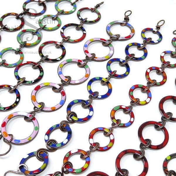 Enamelled Copper Bracelets
