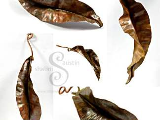 Decorative Copper Leaf Sculpture - Various sizes: Made to Order