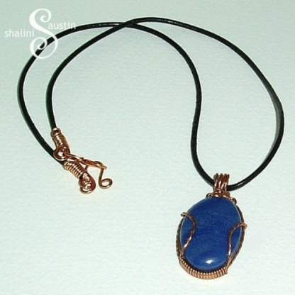 Description Reviews (0) Blue Aventurine & Copper Pendant