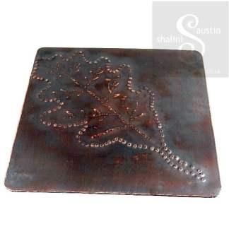 Copper Coaster: Oak Leaf