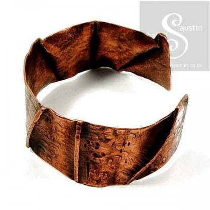 One-Off Wearable Copper Art Cuff Bracelet 05