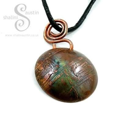 Etched Copper Pendant 02