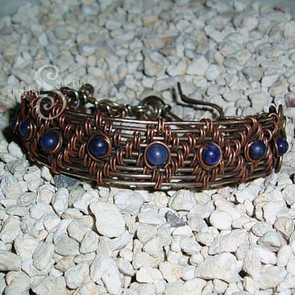 "Wire Weave Bracelet ""Danielle"" with Sodalite"