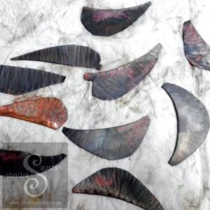 Fold Form Copper Leaf Earrings