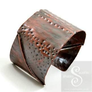 Unisex Fold-Formed Copper Cuff 07
