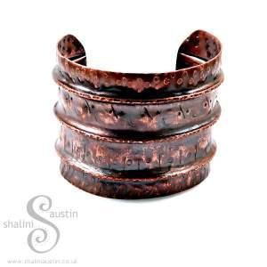 Antique Finish Fold-Formed Copper Art Cuff SAREE