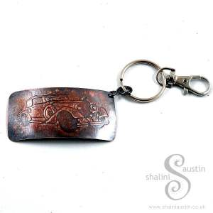 Handmade Gifts: Copper Keyring VINTAGE CAR 1
