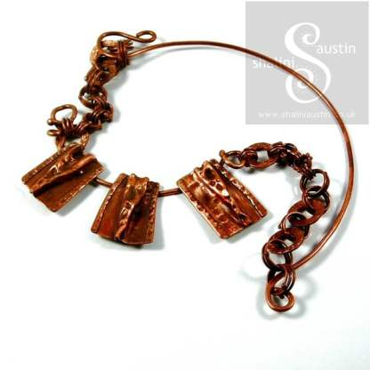 Rustic One-Off Copper Necklace PHAROAH