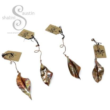 Handmade to Order – Small Decorative Copper Leaf Sculpture