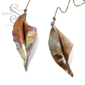 Handmade to Order – Decorative Copper Leaf Sculpture 7-8 cm