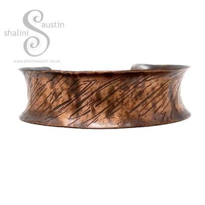 Anticlastic Copper Cuff SCRATCHED