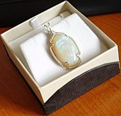Opal and Sterling Silver Pendant