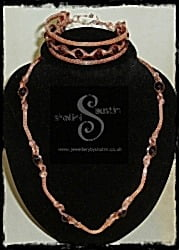 "Wire Weave Necklace and Bracelet set ""Suzanne"""