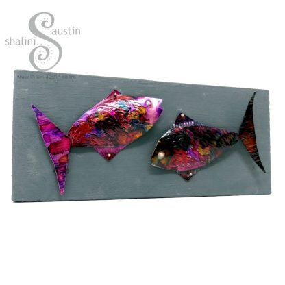 Funky Fish 04 on Upcycled Wood