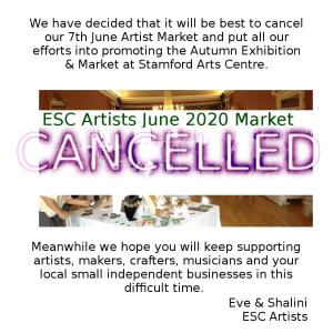 Cancelled 7th June Artist Market