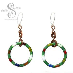 Grass Green Copper Earrings TUTTI FRUTTI