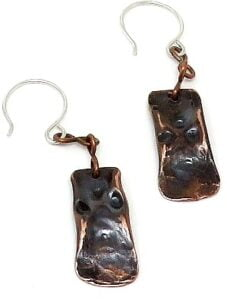 Antique Finish Copper Earrings