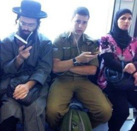 Israeli-Soldier-Arab-Woman-and-hasidic-jew-setting-next-to-each-other-in-a-train-800x768
