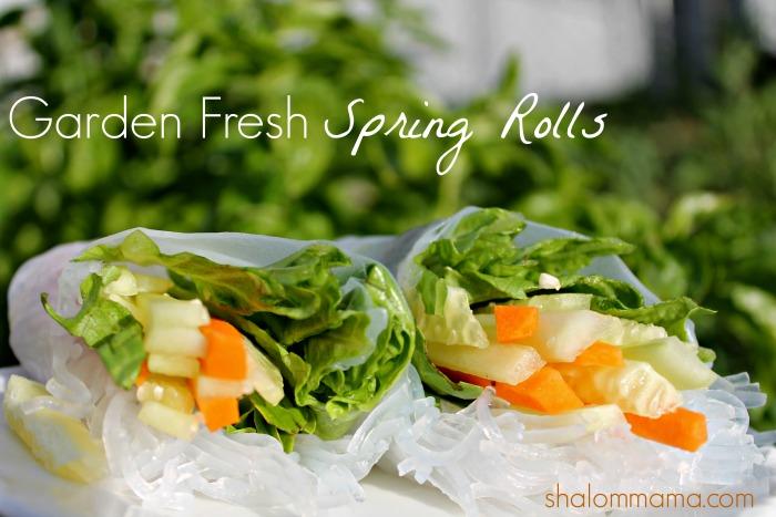 Garden Fresh Spring Roll Tutorial