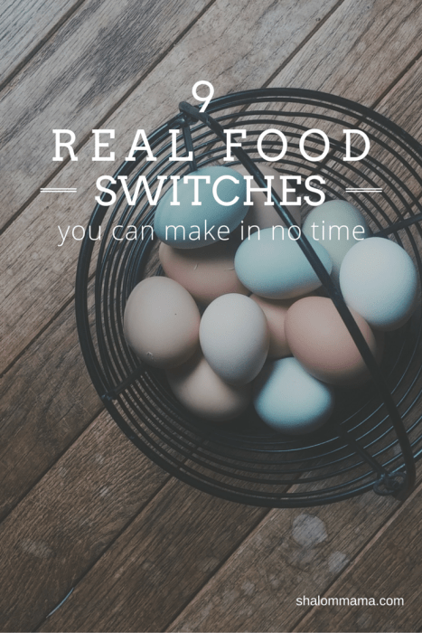 9 real food switches you can make in no time