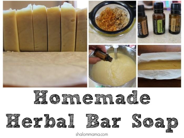 Homemade Herbal Bar Soap