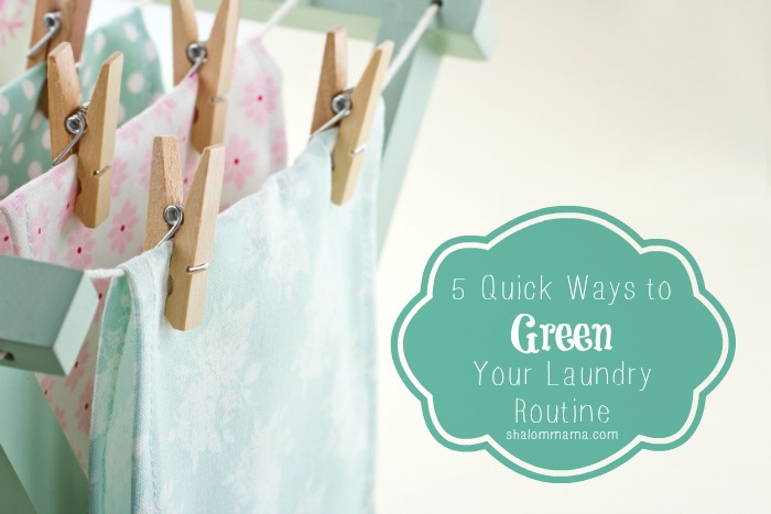 5 Quick Ways to Green Your Laundry Routine