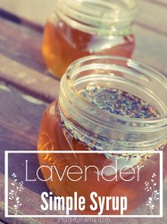 Homemade Lavender Simple Syrup